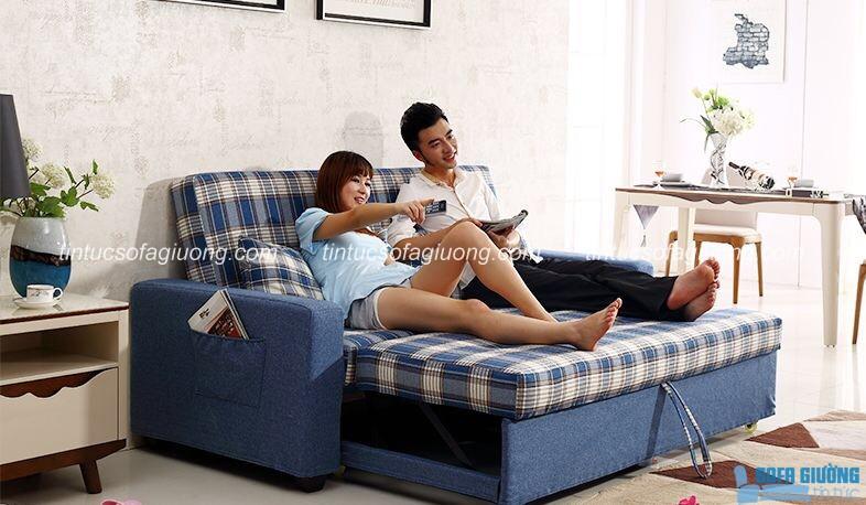 Mẫu sofa giường kéo đa năng dễ dàng sử dụng