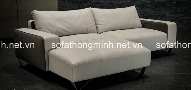 Sofa thư gian gam màu trắng xua  tan cái oi bức của mùa hè