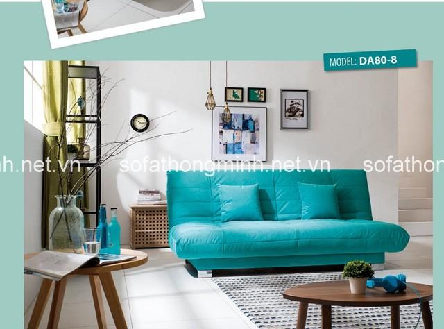 Với tone màu xanh Sofa giúp làm đẹp phòng khách
