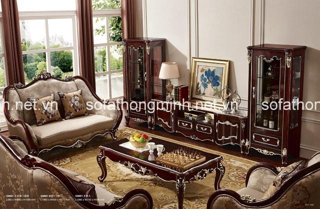 sử dụng bàn ghế sofa phong cách cổ điển cho phòng khách