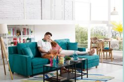 Tại sao sofa góc bọc nỉ lại được yêu thích làm sofa phòng khách sang trọng