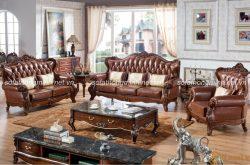 Tại sao mẫu sofa da màu nâu trở thành mẫu sofa cho phòng khách đẳng cấp