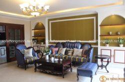 Ghế sofa tân cổ điển cho phòng khách quý tộc thể hiện đẳng cấp