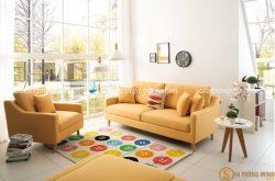 Xu hướng chọn màu sắc cho sofa phòng khách cho thu sang lãng mạn