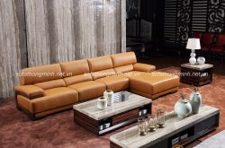 Sofa da nhập khẩu cao cấp mang đến giá trị sử dụng và tính thẩm mỹ cho phòng khách