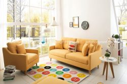 Mẹo sử dụng ghế sofa màu vàng tạo điểm nhấn trong trang trí nội thất